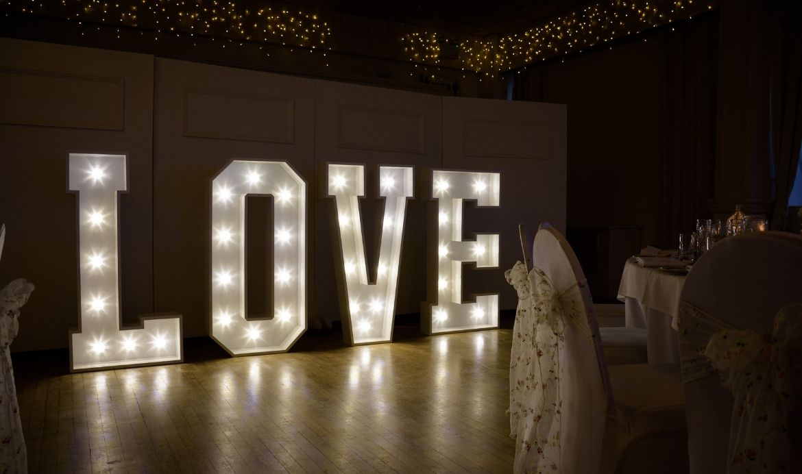 Bright Events Marquee Letters Lights